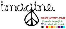 "PEACE IMAGINE Funny JDM Vinyl Decal Sticker Car Window bumper laptop tablet 7"""