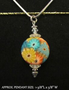 Floral Necklace~Handmade Polymer Clay