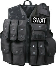 Black Tactical SWAT Law Enforcement Raid Vest