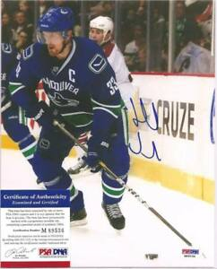 Henrik Sedin Signed 8x10 Photo PSA DNA COA Vancouver Canucks Autographed b