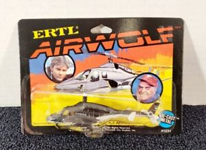 VINTAGE 1984 ERTL AIRWOLF HELICOPTER MINT IN THE PACK VERY RARE