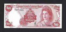1974 CAYMAN ISLANDS $10 Dollars Original UNC, P-7a A/1 Prefix, Popular QEII Note