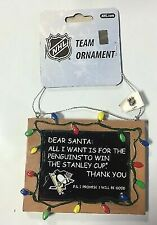 Pittsburgh Penguins Stanley Cup Chalkboard Christmas Ornament