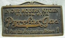 Orig Old PYROFAX GAS Adv Sign In our Modern Kitchen we cook with PG ornate