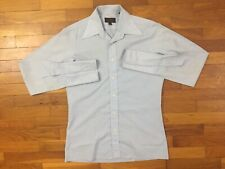 vtg 80s Yves Saint Laurent Logo French Cuff Dress Shirt men's 15 32 33 ysl 1a664