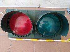 SEMAFORO ROSSO VERDE DOPPIA 2 LUCI 230V LAMPADA PARCHEGGIO IMPIANTO
