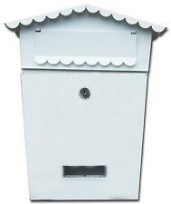 Bianco montabile ACCIAIO mail box posta lettere CASSETTA POSTALE CASA SCUOLA UFFICIO + 2 CHIAVI