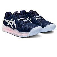 Asics Womens Gel-Resolution 8 Court Shoes - Navy Blue Sports Tennis Breathable