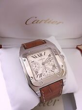 Men's Stainless Cartier Santos 100XL Chronograph 41mm X 55mm ~ Box & Papers