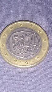TRES RARE !! PIÈCE GRECE DE 1 EURO -2002-AVEC «S »= SUOMI DANS l'ETOILE DU BAS