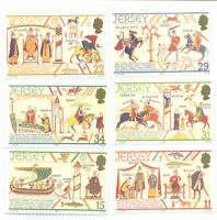Jersey-Bayeaux Tapestry -Normans- set of 6 mnh-1988- Art-History