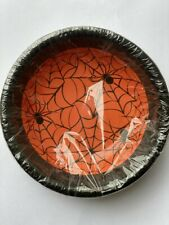 16 x Halloween Spider Web Paper Bowls Party Tableware Supplies