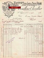 Beau Document du 11/04/1927 TOUILLEUX CHEVALIER Tresses & lacets - St-Chamond 42
