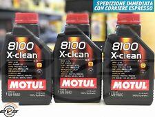 3 Litri Olio Motore Motul 8100 X-Clean 5W40 Acea C3 100% Sintetico mSaps Quality