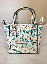 NWOT GUESS Delaney Mini Women's Tote Handbag Purse White with Multi Print