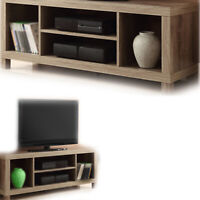"TV CONSOLE STAND 42"" ENTERTAINMENT Center Wood Media Cabinet Home Theater Storag"