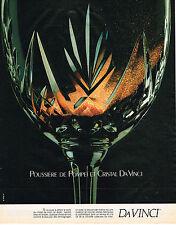 PUBLICITE ADVERTISING 035  1984  DA VINCI  vase cristal POUSSIERE DE POMPEI