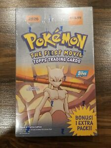 Pokemon The First Movie Topps Trading Cards Booster Box NEW SEALED