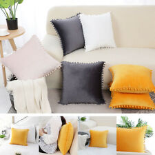 Pompms Soft Velvet Throw Pillow Cover Sofa Couch Cushion Cover