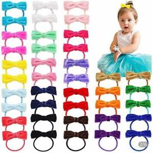 Girls hair bow bobbles velvet 2 inches pairs of bobbles for babies toddlers lot