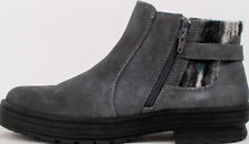 Earth Origins Ladies Tate Suede Ankle Boots Aztec Sweater Grey Choose Size