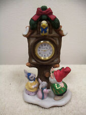 Fitz & Floyd Holiday Hamlet Village Square Clock - Enchanted Forest Collection