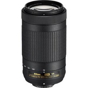 Nikon AF-P DX 70-300mm f/4.5-6.3G ED VR Lens 20062 for Nikon D3400 D5300 D5500