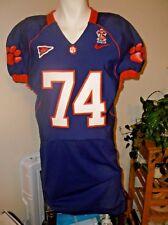 Clemson Tiger Football Jersey #74 Sz 48 Game Worn Used  Purple TEAM ISSUE 75 YR