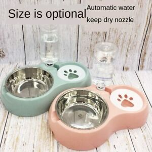 Automatic  Double Pet Bowls Dog Cat Puppy Food Dispenser&Water Supplies