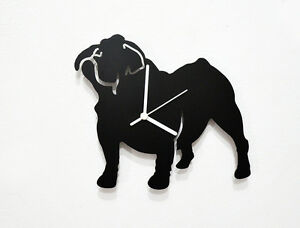 Bulldog Silhouette - Wall Clock