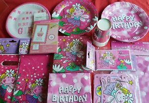 Birthday Girl - Birthday Party Plates,Cups,Napkins,Invites,Table Cloth, Banner