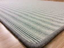 Striped CHICAGO CH709 SAGE GREEN Crucial Trading Wool Rug LARGE 130x180cm -60%OF