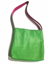 Marc Jacobs Reversible Neon Leather Bag / Green to Fuschia LOGO -RARE- UNISEX