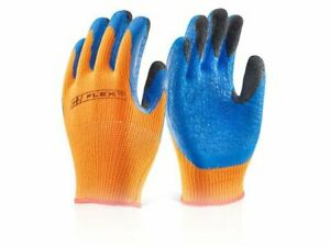 10 X PAIRS OF  B-FLEX LATEX THERMO STAR FULLY DIPPED GLOVES SIZE 9