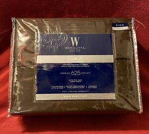 Wamsutta® PimaCott 625-Thread-Count Pima Cotton King Sheet Set Chocolate NIP
