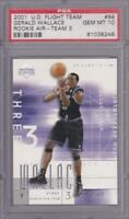 GERALD WALLACE RC 2001-02 UPPER DECK FLIGHT TEAM ROOKIE AIR #115/500 PSA 10
