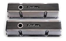 Edelbrock 4263 Valve Cover Kit Elite II Series SBC Tall Engine Valve Cover