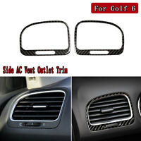 Carbon Fiber Side AC Vent Outlet Decorative Trim For VW Golf 6 Gti R MK6 2008-12