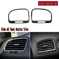 For VW Golf 6 Gti R MK6 2008-12 Carbon Fiber Side AC Vent Outlet Decorative Trim