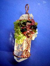 EDELSTEINE Anhänger Bergkristall + Lebensbaum Weltenbaum Amulett Kristall Pendel