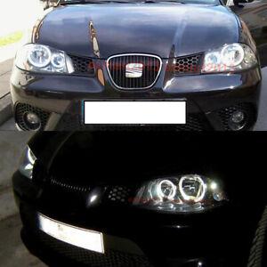 LED halo rings for Seat ibiza 6L Cordoba LCI 2003-2009 headlight angle eye DRL