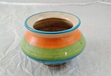 Old Vintage Round Ceramic bowl  With Beautiful Spiral Trailing /Bands India