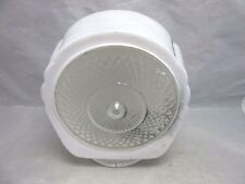 Vintage glass lamp shade. White