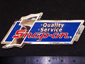 SNAP ON TOOLS Quality Service - Original Vintage 1980's Racing Decal/Sticker