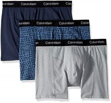$75 Calvin Klein Underwear Men Blue Ck Np2168o Stretch 3-Pack Boxer Brief Size S