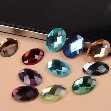 Oval Flatback Crystal Glass Cabochons Faceted Rhinestones 6x8/8x10/10x14/13x18mm
