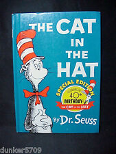 THE CAT IN THE HAT 40TH BIRTHDAY 1997 HC BEGINNER BOOKS GROLIER BOOK CLUB ED