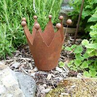 Krone Edelrost am Stab Rostkrone Florissima Metall Durchmesser 10 cm zum Stecken