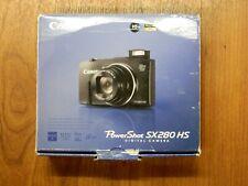 New in Open Box - Canon PowerShot SX280 HS 12.1MP Camera - BLACK - 013803220438