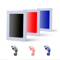 Creative Non-Toxic Baby Keepsake Touch Inkless Footprint Handprint Ink Pad Frame
